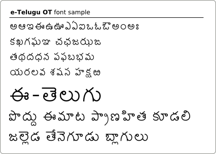 Telugu Font from INDOLIPI