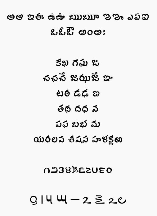 Ravi Prakash Telugu font sample